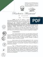 RM Nº 1168-2014-IN-PNP