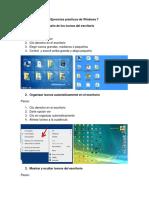 Ejercicios Prácticos de Windows 7
