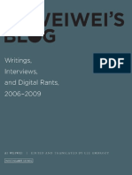 Ai Weiwei. - Ai Weiwei's Blog_ Writings, Interviews, And Digital Rants, 2006-2009