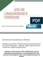 Aula - Estudos de Linguagens e Códigos
