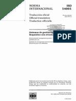 ISO 14001 2015 ESP