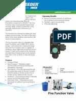 PULSAFEEDER 5 Function Valve Sell Sheet
