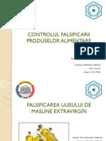 Falsificarea Uleiului de Masline