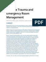 Trauma Multiple Sala de Emergencia
