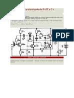 Amplificador Transistorizado de 0,5wx6v
