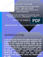 Patent Comparative Analysis