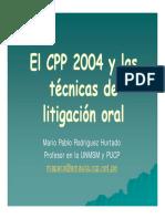 Técnicas de Litigacion Oral II.escuela