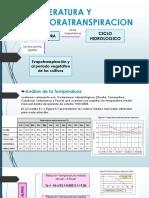 Temperatura y Evaporatranspiracion