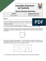 Examen Ordinario Fisica II Ago-Dic 2014