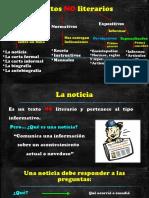 Textos No Literarios (Noticia, Receta, Reglamento)