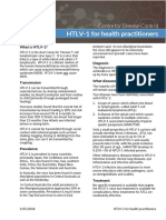 NT Health factsheet on HTLV-1 for clinicians