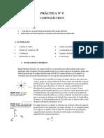Informe 9 Campo Electrico