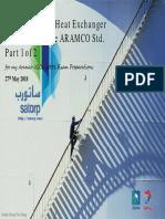 Understanding Heat Exchanger Reading 03a the ARAMCO Std.