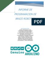 Informe de Programacion de Los Brazos Roboticos