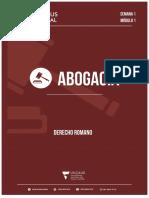 DERECHO ROMANO - Modulo 1 PDF