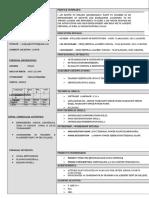 TPC - CV - Student Format