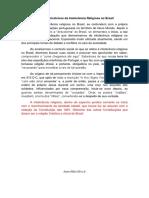 aspectos hhistóricos da intolerânia religiosa no Brasil