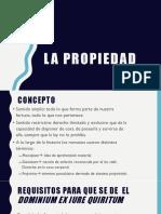 La Propiedad en el derecho romano y peruano