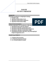 Grafika Komputer Bab III Output Primitif
