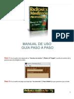 Manual de Uso Del Radionics Manifestor Pro 3