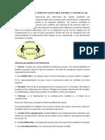 Procesos de La Comunicación Oral Escrita y Gesticular