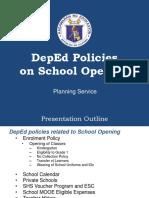 1. Policies on School Opening (1)