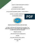 Acumulación de Envases de Plaguicidas y Su Influencia en La Contaminación Ambiental en La Provincia de Huacho 2018 (1)