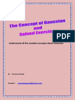 Ideas About Gaussain and Solved Exercise