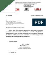 Suspensão Greve Petrobras PR e SC