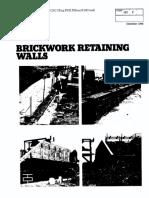 brickwork retaining