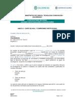 Anexo 4. Carta de Aval y Compromiso Institucional