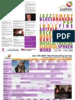 Sutton Festival of Arts 2008 - programme