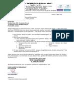 1. Surat Informasi Jadwal Survei Verifikasi Progsus Ke-2 SNARS Edisi 1 RSU. Kecamatan Ciracas, Jakarta