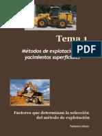 TEMA 1 Métodos de Explotación de Yacimientos Superficiales (1)