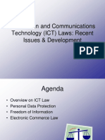 Recent Issues in Ict Law