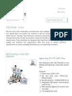 CNC Router - 5 Axis - Mini Desktop 5 Axis CNC Machine