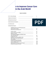 Arab World Cancer Declaration, 2010. (Initiative to Improve Cancer Care in the Arab World)