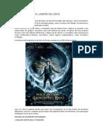 Percy Jackson y El Ladrón Del Rayo Actividades Didácticas