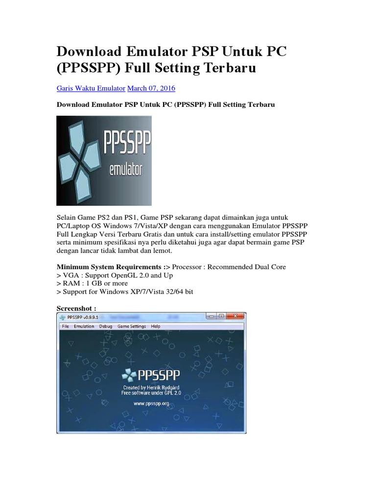 Download Emulator Psp Untuk Pc