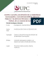 PROYECTO DE INVESTIGACIÓN ARQUITECTÓNICA