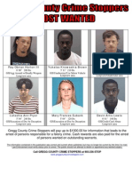 Gregg County Crime Stoppers Most Wanted Poster