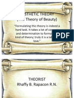 Aesthetic Theory the Theory of Beauty