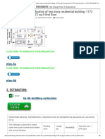 6.Estimation and Specification of Two Story Residential Building -1172 Sq.ft Ground Floor & 1172 Sq.ft First Floor – CIVIL TRAINING for YOUNG ENGINEERS