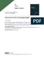0 J2008 - Fate and Free Will in the Bhagavadgītā