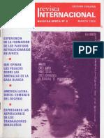 Revista Internacional. Edicion Chilena. Nuestra Epoca N°3. Marzo 1982