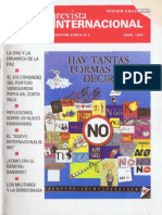 Revista Internacional. Edicion Chilena. Nuestra Epoca N°4. Abril 1989