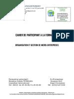Cahier de Participant Pour La Formation de TATIMA