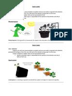Tropism Task Cards