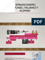 Expansionismo Japonés, Italiano y Alemán
