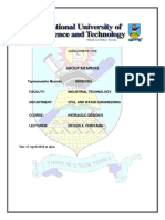 Hydraulic Design Assignment